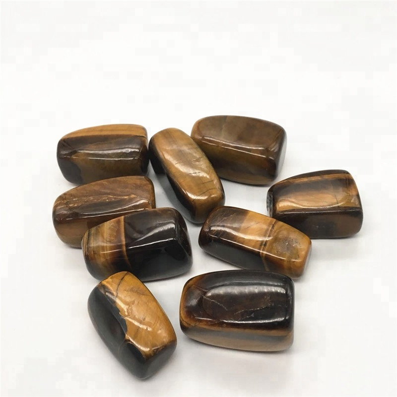 Bulk wholesale natural tiger eye crystal tumbled stones crystals stones