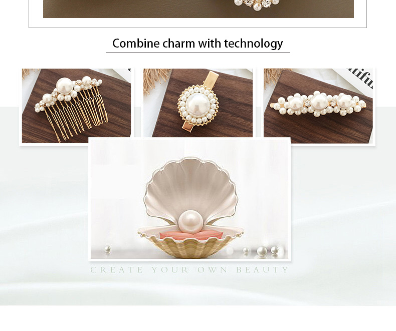 Pearl Woman Metal Pretty Hairpin Accessory Design Hair Clip For Girl