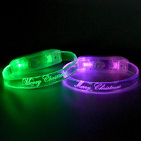 Hot Sale Custom logo Printing TPU Flashing LED Bracelet