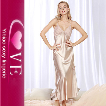 Mature satin night gown