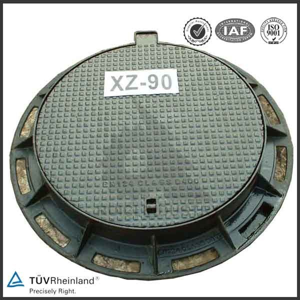 round cast iron roof drain and sump manhole cover