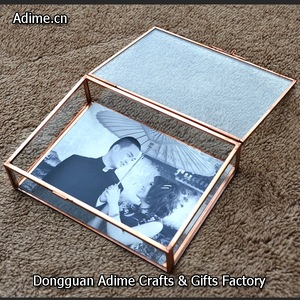 4x6,5x7,Rose Gold Glass Photos Packaging Box for Photographer