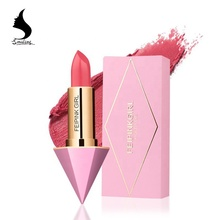 다이아몬드 Shape Lovely Pink Sweet Matte 색 오래가는 방수 Matte Nude Red Color <span class=keywords><strong>립스틱</strong></span> Lip Stick