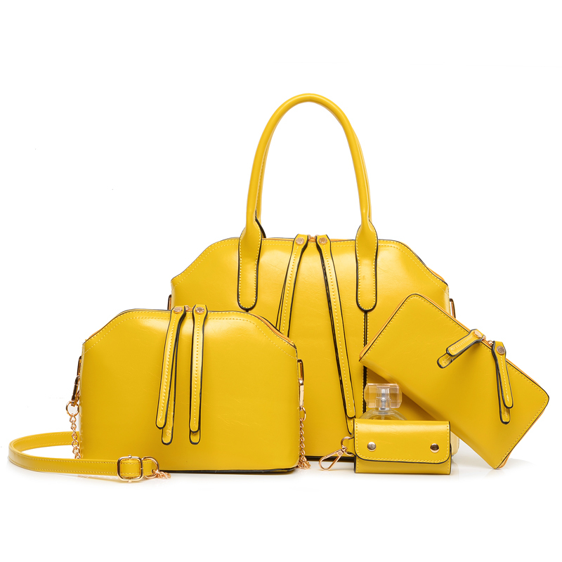 Double Top Handle Handbag Designer American Style Bag