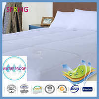 Fitted open bottom plastic washable breathable waterproof bed sheet antidust cover