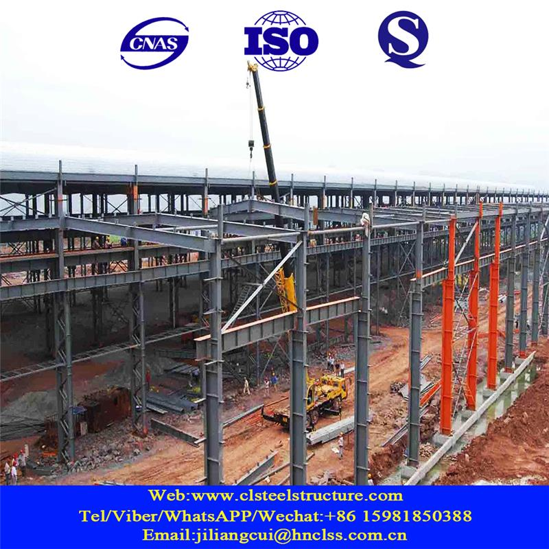 steel truss purlin of toll-gate gas filling station galvanized iron structure