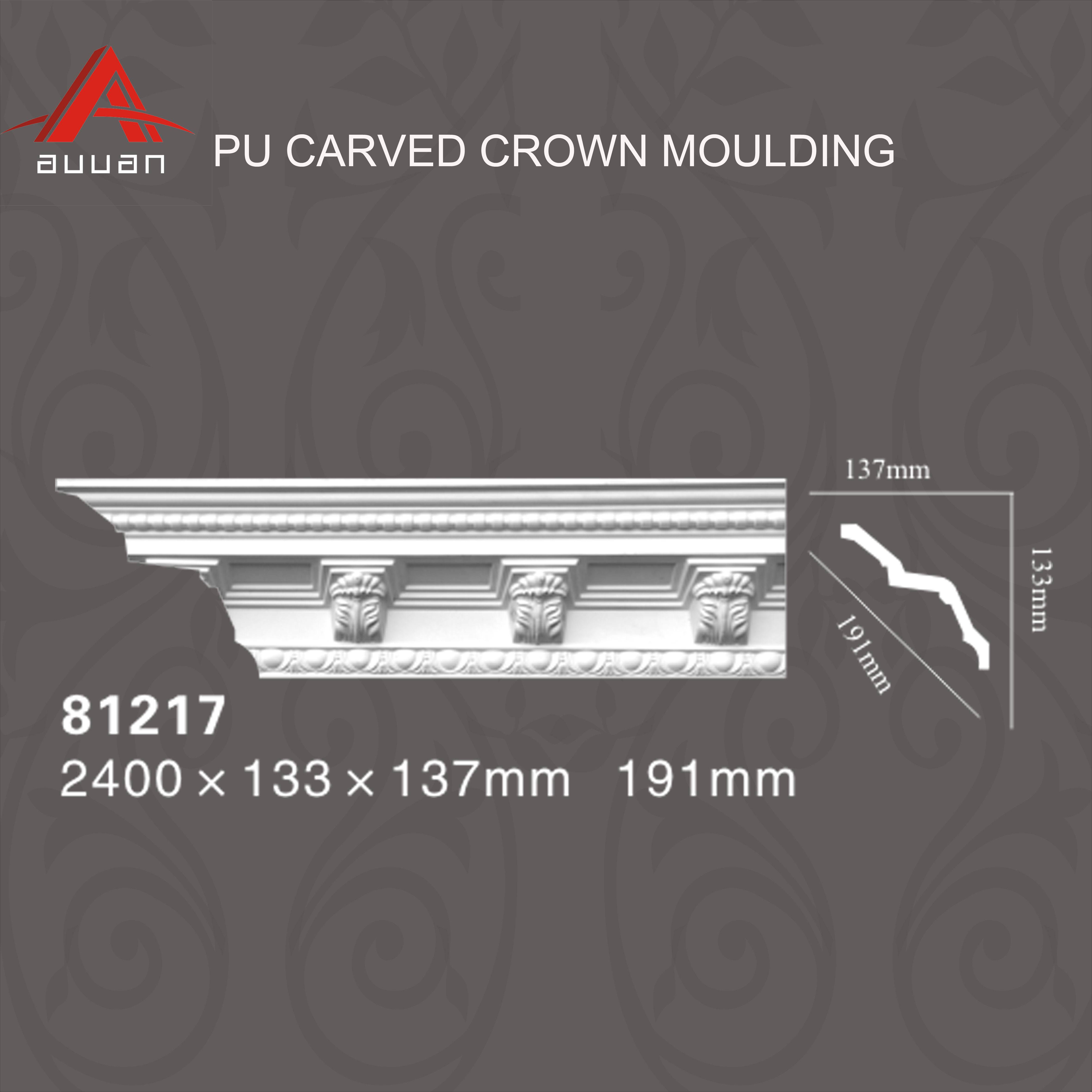 81217# Architectural Lowes Pu Foam Polyurethane Luxury Ceiling Crown  Mouldings - Buy Ceiling Mouldings,Crown Moulding,Ceiling Cornice Product on