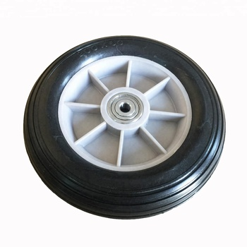 "High Quality PU Solid Stroller Tire With 10mm 2/5"" S6300ZZ Precision Ball Bearing"