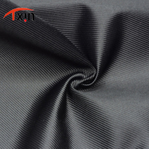 Tongxin Textile fashion style strip polyester black warp knitted sports fabric mercerized plain cloth