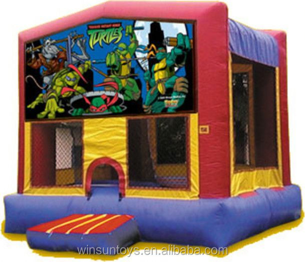 Commercial Inflatable Teenage Mutant Ninja Turtles bouncing castle,bouncy castle,jumping castle