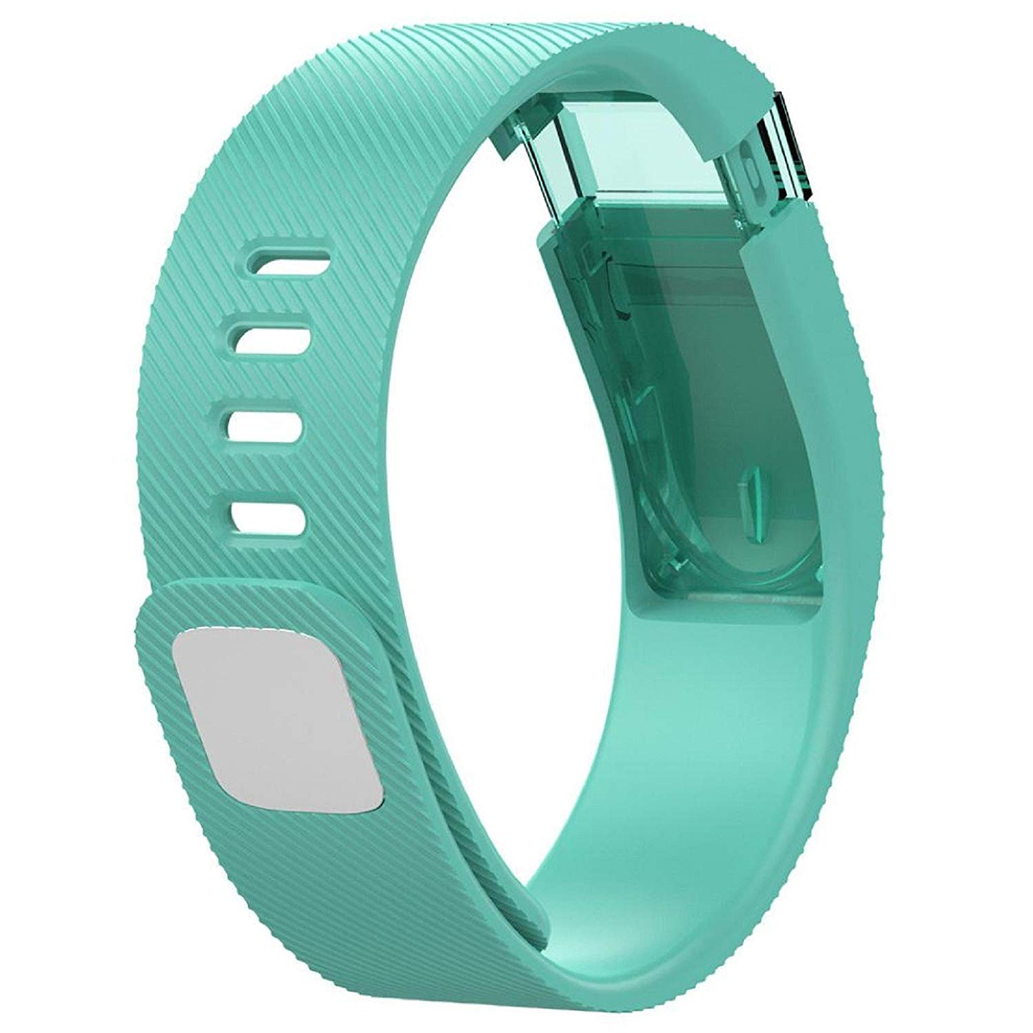 Owill Large Size 160-225MM Replacement Silicone Band Rubber Strap Wristband Watch Band For Fitbit Force (Green)