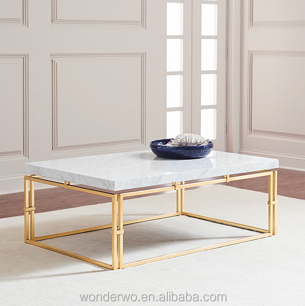 Madrid Marble-top Coffee Table Steel Base Finished In Gold Accent Table  Living Room Furniture - Buy Coffee Table,Accent Table,Living Room Furniture  ...