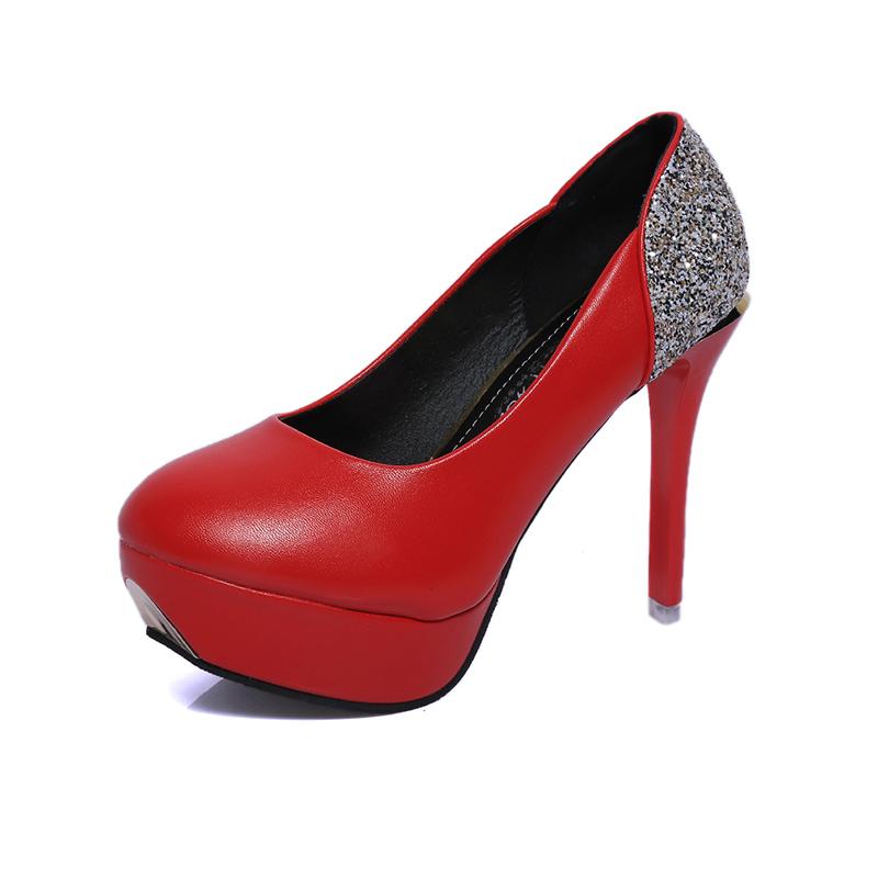 f05d033c Último zapatos de tacón alto de las señoras de la pu superior 11 plataforma  cm Cristal