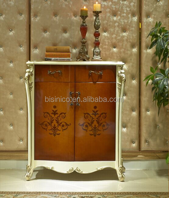 European Style Luxury Shoe Cabinet, Beautiful Painting Wood Carved Shoe  Cupboard, Shoe Rack With