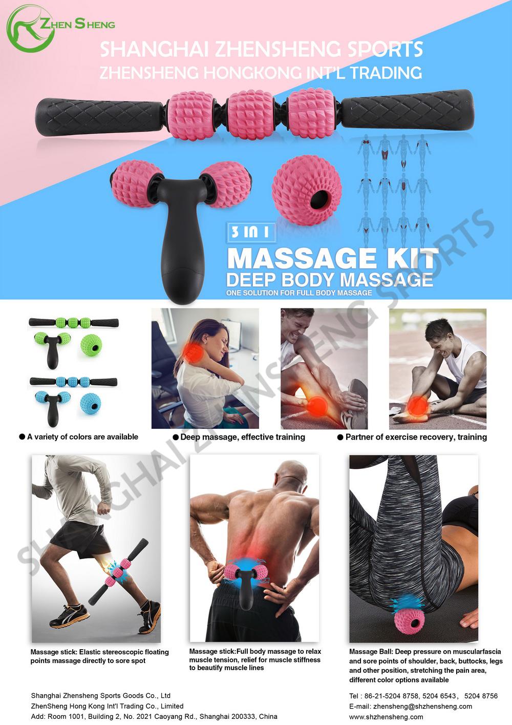 Zhensheng foam EVA massage roller stick