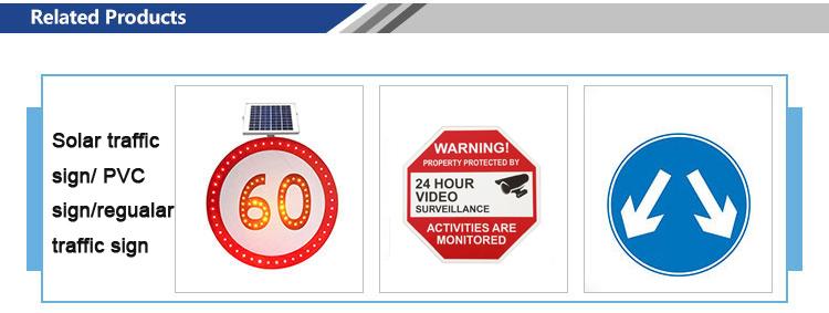 High Visibility Customized Amber Beacon LED Solar Powered Traffic Blinking  Light /LED Yellow flashing Traffic Warning Light