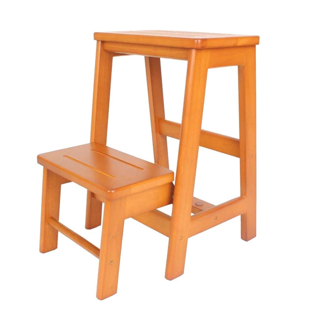 Get quotations · staircase stool th wood 2 tier step kitchen step stools for adults household ladder stools multi