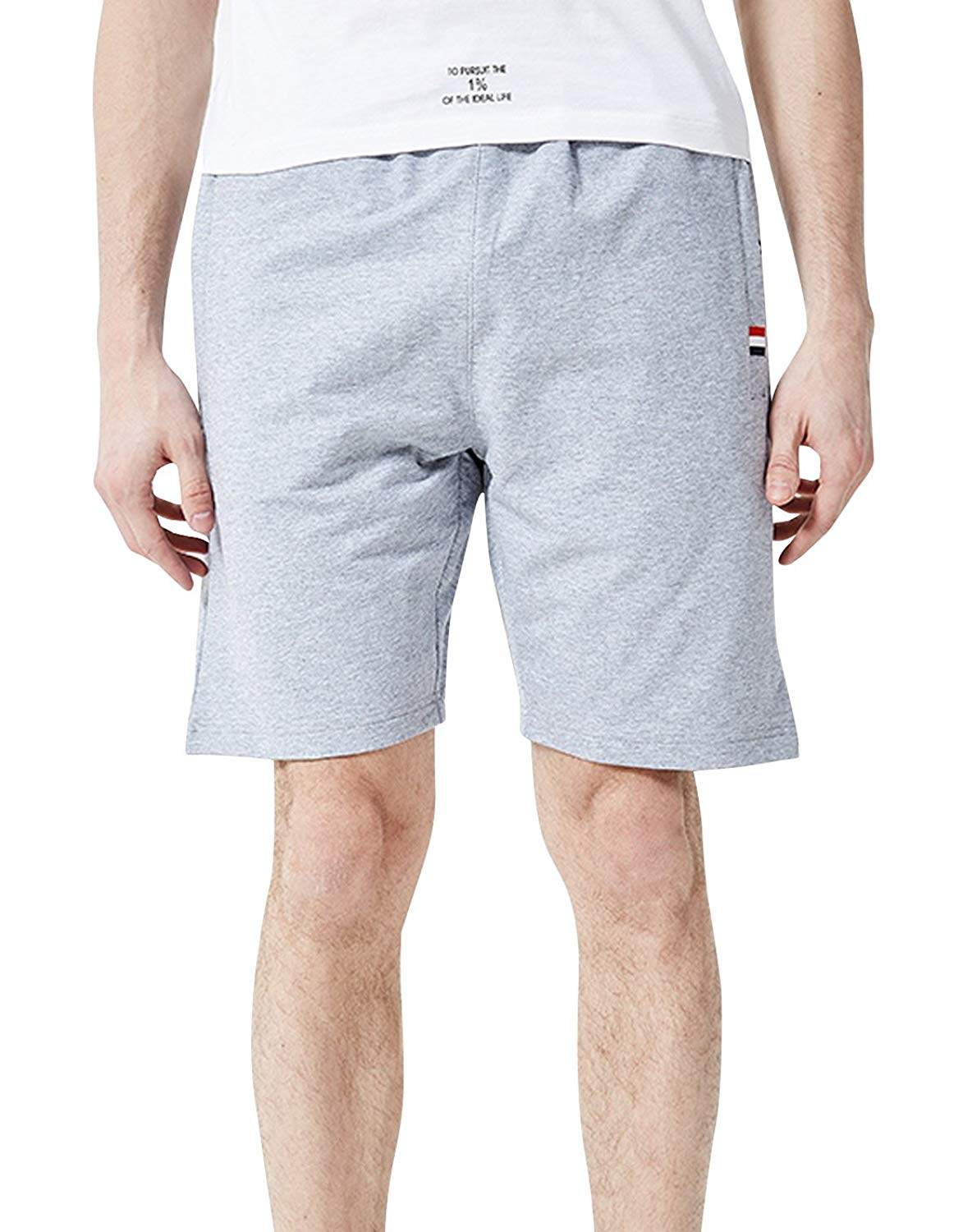AIEOE Mens Athletic Shorts Comfort Cotton Cargo Shorts Beach Shorts