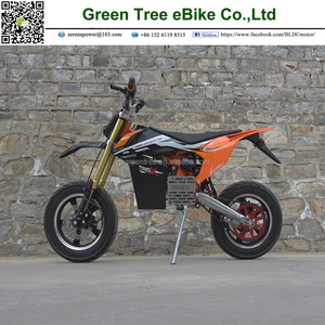 New model 2018 electric dirt bike 7500W mid drive motor speed throttle  Denzel electric bike