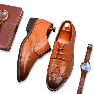 2019 Hand made custom casual loafers mens dress shoe genuine leather men shoes