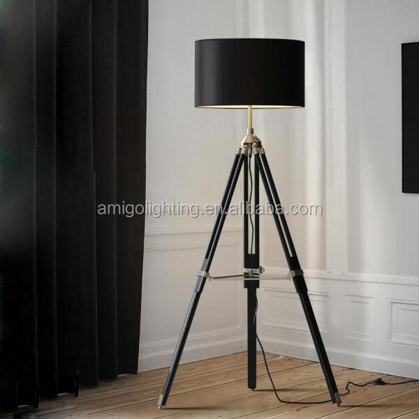 Barato ikea l mpara de pie tr pode de madera para sala de for Cheap tripod lamp