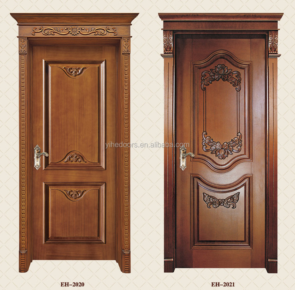 Classical wooden single main entrance door design buy for Single main door designs for home