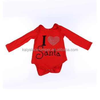 Latest Infants &Toddlers Rompers Set Wholesale Children Boutique Clothing Cotton Fashion Red Christmas Baby Girls Fall Romper