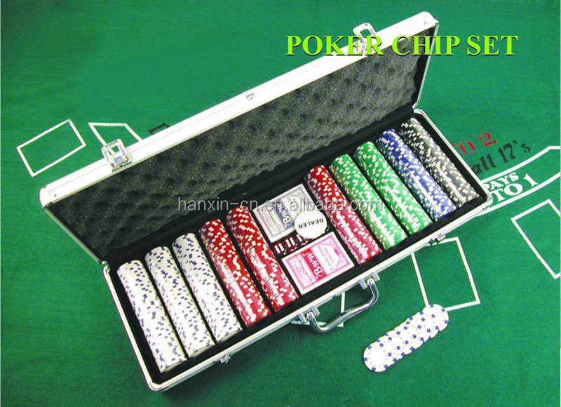 Casino 500 chip poker set in aluminium case