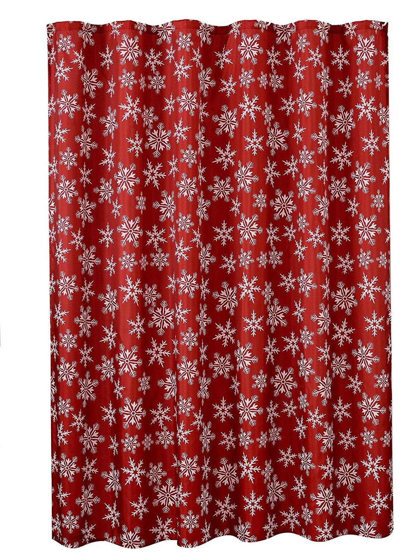 get quotations violet linen decorative christmas printed design shower curtain
