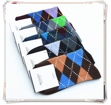 Mens Casual Socks new argyle design soft -fit 100 prs mix colour hot selling socks for sale comfortable Socks Cotton