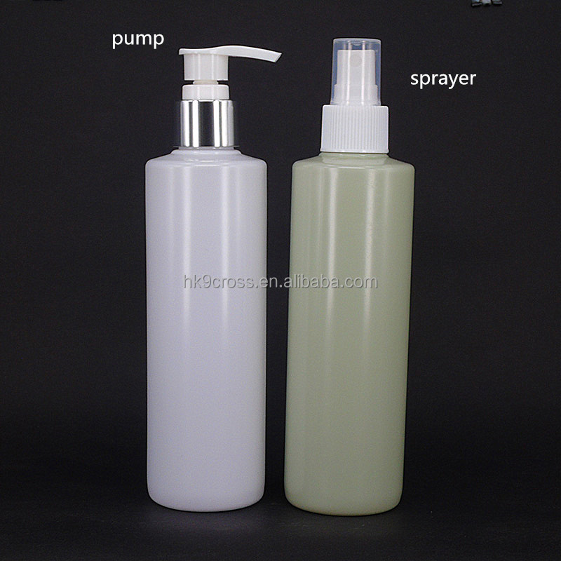 250ml HDPE plastic pump bottle fine mist sprayer bottle for hair products