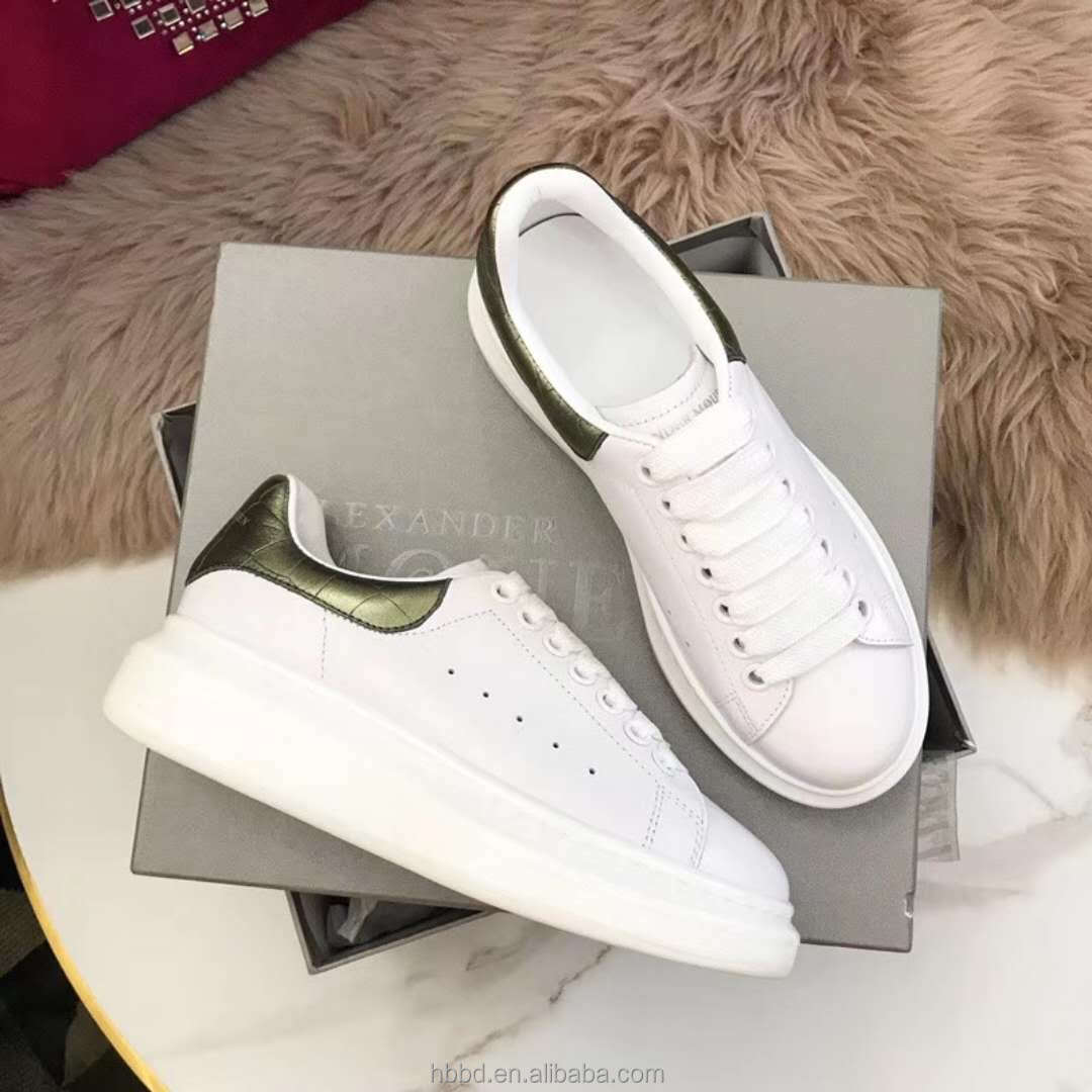 foot wholesale lady shoes white elastic mesh leather genuine flat shoes patchwork CqExgr8Cw