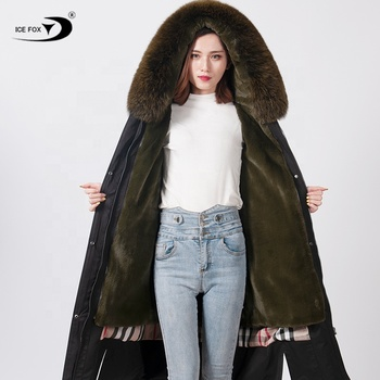 2019 popular style winter high quality Slim fit warm military women parka coat
