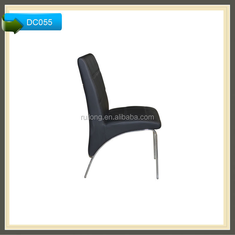 lounge leather metal chair restaurant commercial dining chair