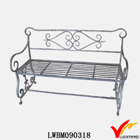vintage retro iron benches for parks and garden