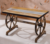 Industrial antique wooden trestle table console dining table wholesale