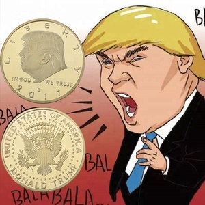 Factory Direct Sale Custom Gold Souvenir Coin US President Donald Trump  Coins Custom Special Challenge Coins