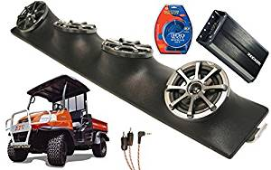 "Kubota RTV UTV Kicker KS525 & PXA300.4 4CH Amp Quad 5.25"" Speaker UTV Pod New"