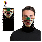 Multifunctional Colorful Cooling Clown Head Tube Bandana