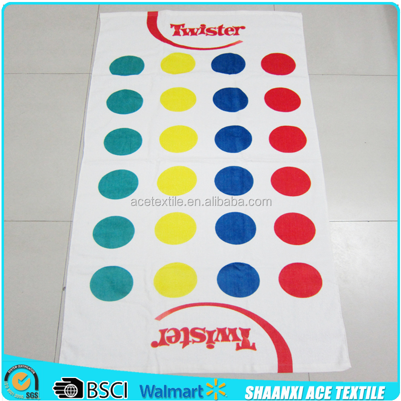 100 Cotton Reactive Printing Twister Game Towel Set Printing Game Beach Towel Buy Twister