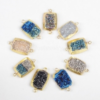 G0773 Natural small charm champagne druzy gemstone pendant necklace from druzy jewelry supplies