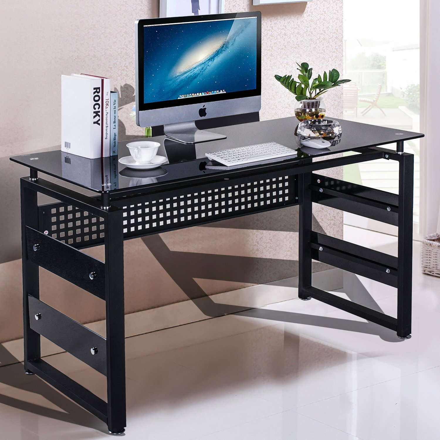 Merax Home and Office Computer Writing Desk Table (Espresso)
