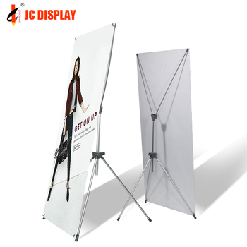Horizontal X Banner Stand Portable Trade Show Display