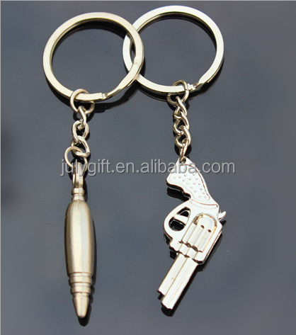 custom zinc alloy keychain gun for sale