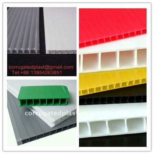 Eco-friendly PP Plastic Fluted Sheets