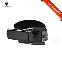 High Quality Black 45mm Wide Thick Patent Leather Belt for Women