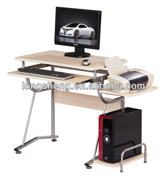 Small PC Table With A Printer Shelf