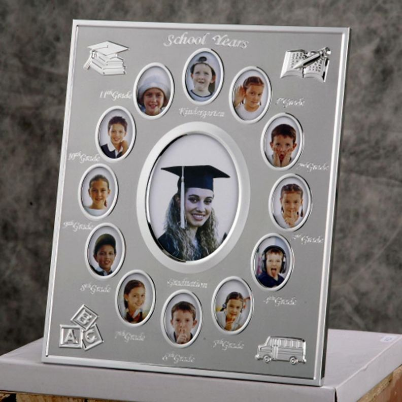Kindergarten Graduation Caps And Gowns Double Sided Glass For Picture Frame Supplies