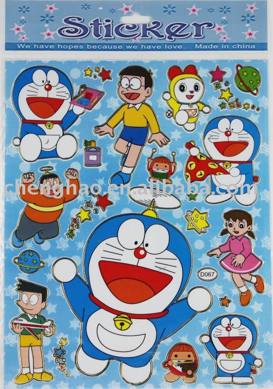 paper decorative cartoon sticker doraemon buy cartoon sticker