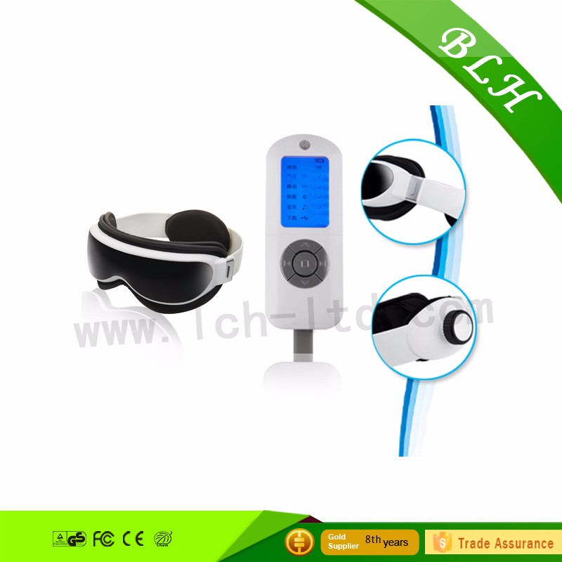 2016 factory music eye massager with heat compression,vibration massager,low price infrared heating eye temple